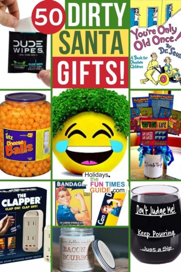 50 clever Dirty Santa gift ideas for a White Elephant party with friends or coworkers!