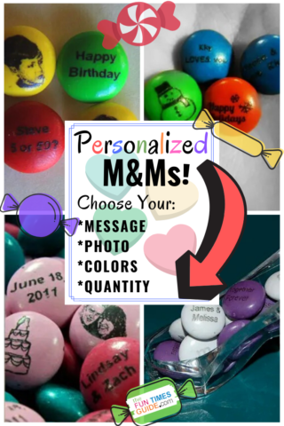 How to make personalized M&Ms - Custom M&Ms with your own photo, message, logo, colors, quantity!