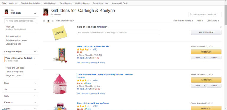 Amazon Universal Wish List