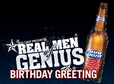Send a bud light real men of genius happy birthday greeting to budlight real men of genius birthday cardg aloadofball Gallery