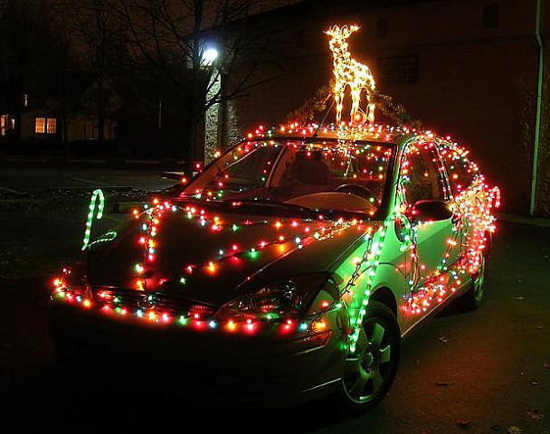 how to string car christmas lights on your vehicle for the holidays fun times guide to. Black Bedroom Furniture Sets. Home Design Ideas