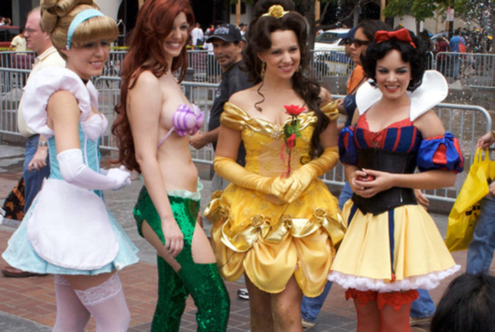 disney princesses group costume