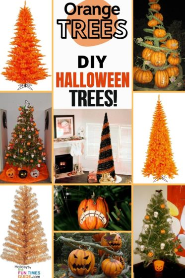 Orange trees make great DIY Halloween trees!