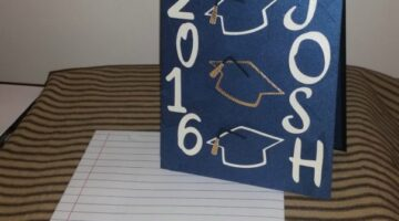Personalized Graduation Cards: A DIY Grad Card In School Colors With Grad Caps & Tassels