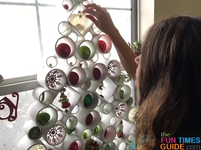 PVC Christmas Tree Tutorial: A Fun Way To Put A Classy, Colorful Christmas Tree In Your Window!