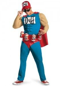 Duffman from the Simpsons is one of the top Halloween costumes for this year.
