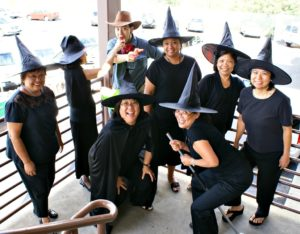 witches group halloween costume