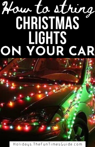 How to string Christmas lights on your car for the holiday season!