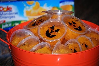 jack o lantern halloween orange cups