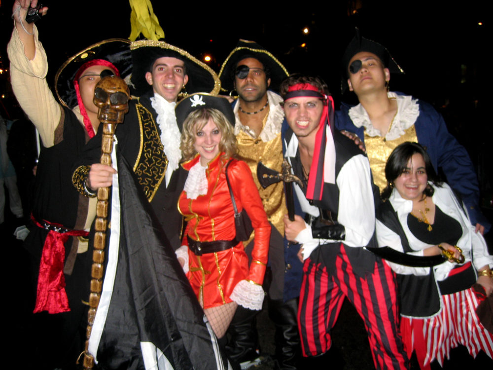... pirate themed Halloween costumes for a group  sc 1 st  Holiday and Party Guide - Fun Times Guide & These 250+ Halloween Group Costume Ideas Will Inspire You To Make ...