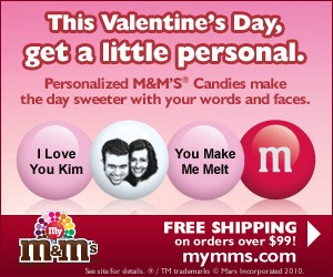 Order personalized M&Ms for Valentine's Day... or ANY special occasion!
