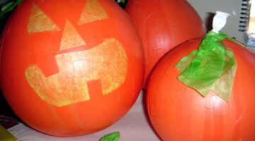 Easy Halloween Crafts & Decorations: Make Paper Mache Pumpkins