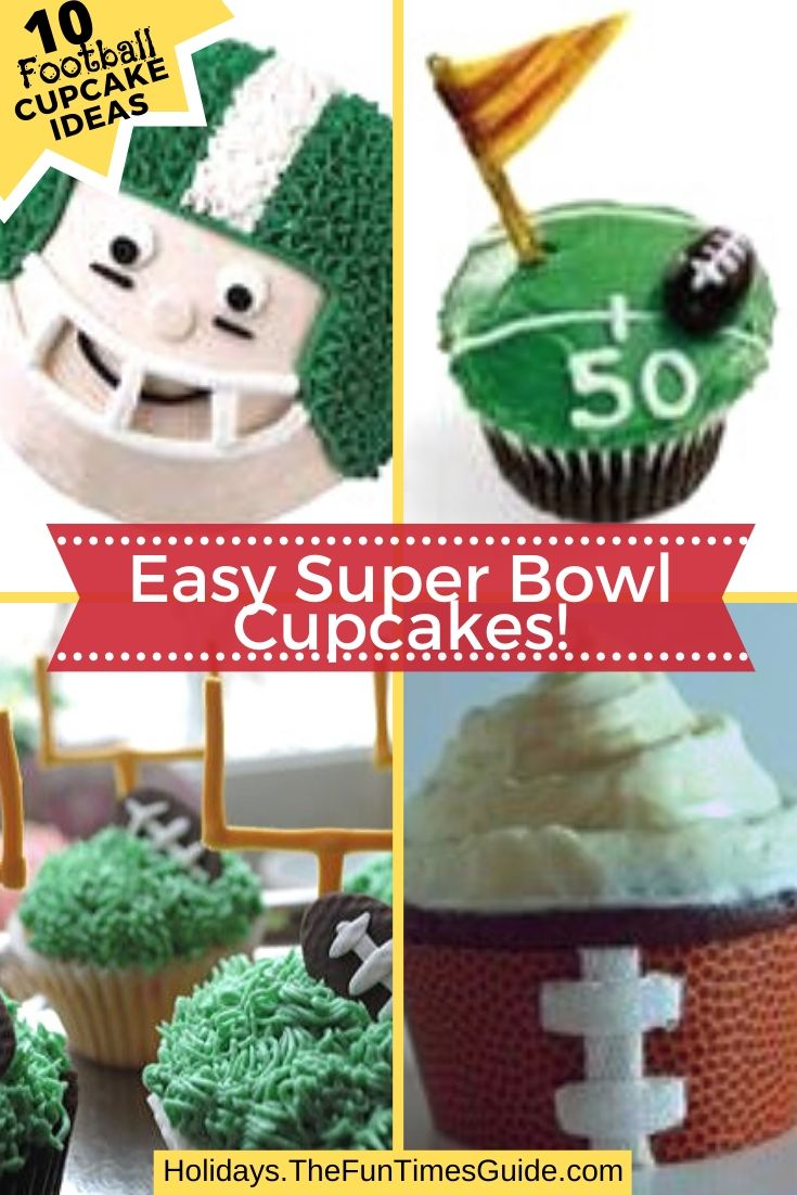 10 Awesome Ways To Decorate Football Cupcakes & Score Big At Your Superbowl Party!