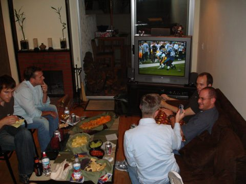 superbowl party tv